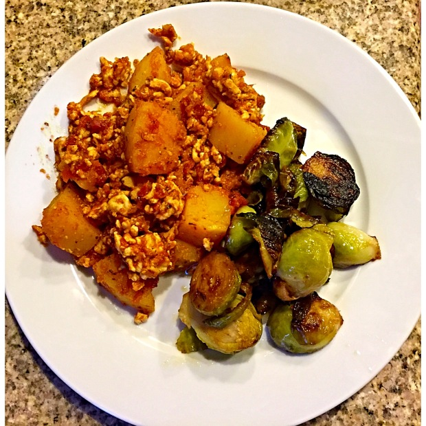 Turkey Bake and Panfried Brussel Sprouts