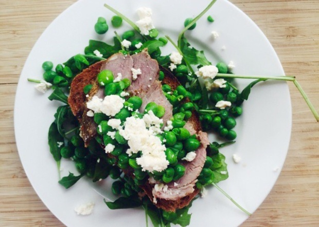 Smashed Pea & Feta Salad