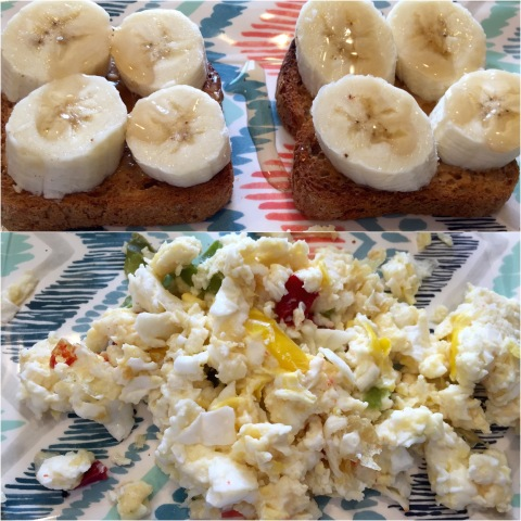 Eggs and Gluten Free Banana Toast